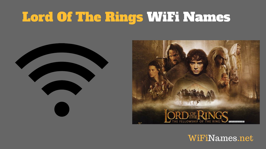 lord of the rings wifi names