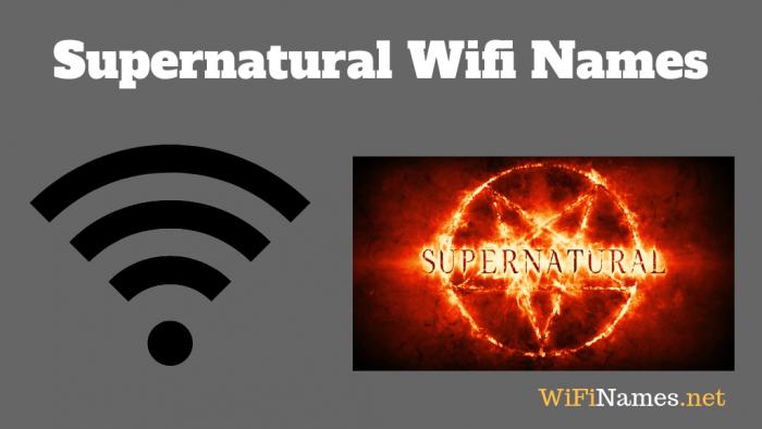 Supernatural Wifi Names